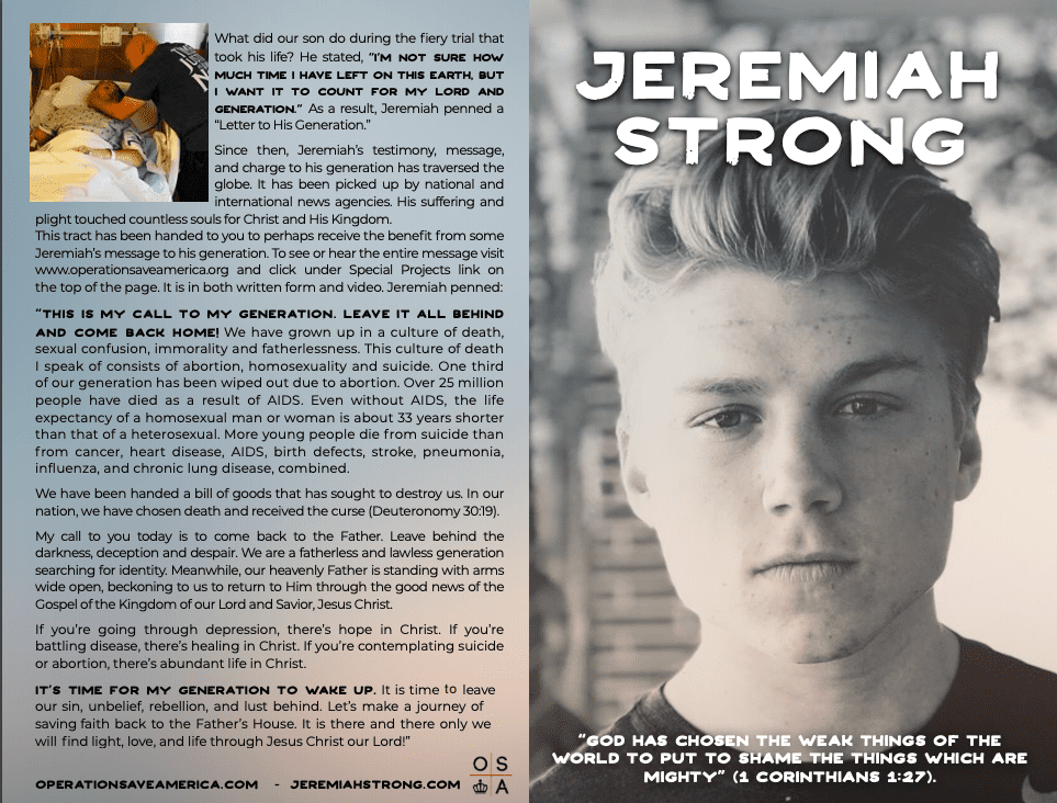 The One Truth You Need to Know, Jeremiah Thomas